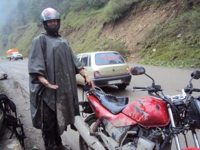 full of mud after crossing landslides...