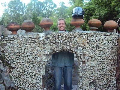 1.4m doors in rock garden