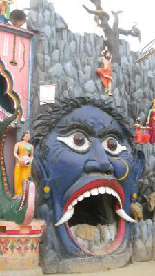 strange tempel ornaments and sculptures