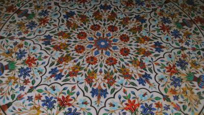 beautifull mosaik in tempel