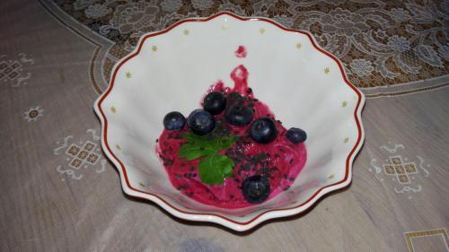 Himbeerjoghurt-Eis