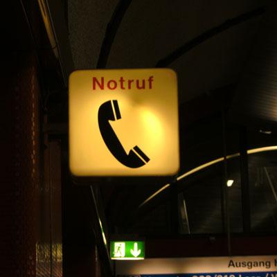 notruf<br /> emergency call