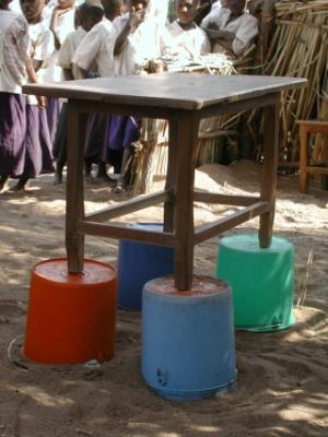 Altar in einem afrikanischen Dorf
