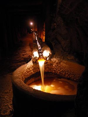 Grundwasser, Salzbergwerk