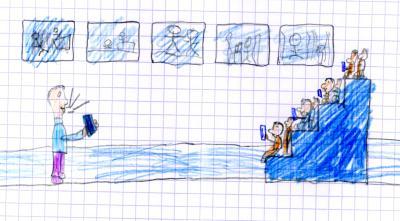 Autorenlesung, gemalt von Leon aus Schwirzheim