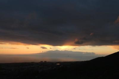 Sonnenuntergang hinter La Gomera