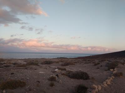 Der Abend am Fuße des Montaña Roja