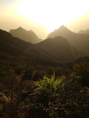 Das Teno-Gebirge im Sonnenuntergang