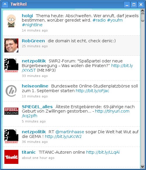 TwitRel: A twitter client that is capable of reordering your friends' timeline based on how often they tweet