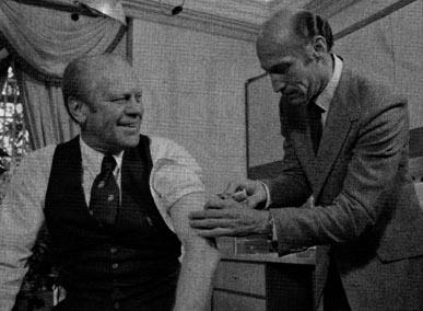 President Ford geht bei Schweinegrippe mit gutem Beispiel voran