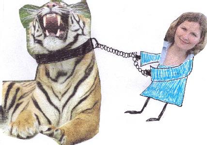 Tiger an der kurzen Leine