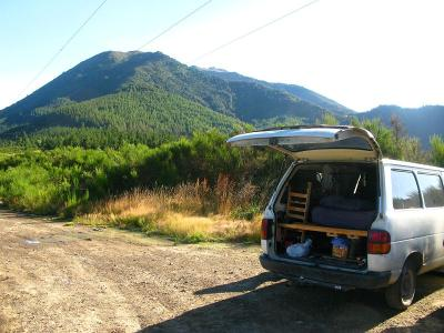 Schlafplatz in den Bergen bei den Hanmer-springs