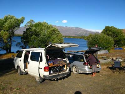 """Camp am Lake McGregor, ein """"kleiner"""" See neben Tekapo"""