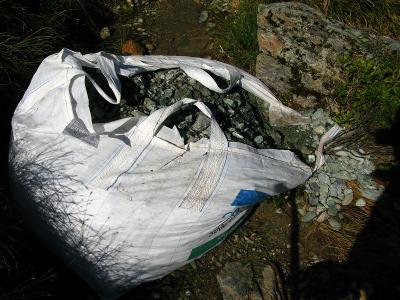 Ein Sack voller Steine aus dem Tal - was sonst?