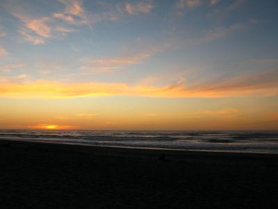 Sonnenuntergang am Hokitika Strand