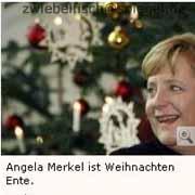 Angela Merkel ist Weihnachten Ente.