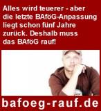 BAföG rauf! - Banner