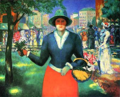 Malevich, Blumenmädchen1903