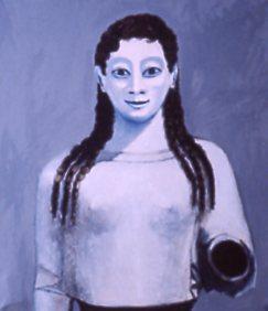 Jürgen Kramer malte die Kore 1986 noch weitgehend farblos.-