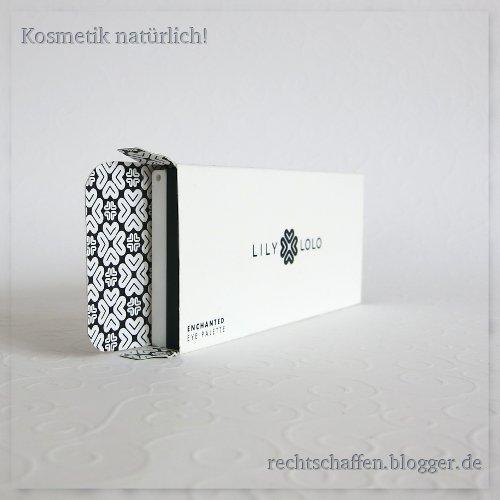 Innenseite Karton mit Logo-Druck allover | Lily Lolo Eye Palette Enchanted & Laid Bare
