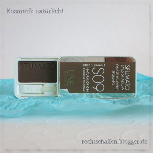 Blogger BIOty Box 1: Sommer, Sonne & Mee(h)r | Une Lidschatten S09 schokoladenbraun