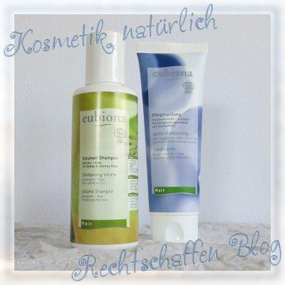 Naturdrogerie unboxing | Eubiona Volumen-Shampoo Kamille-Kiwi und Pflegespülung Traubenkernöl
