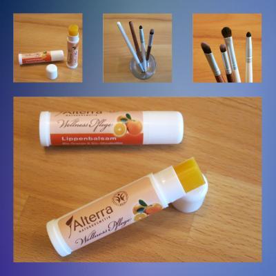 Lippenpflege und Pinsel