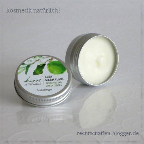Kivvi Organic Cosmetics Body marmalade Bergamot & Litsea
