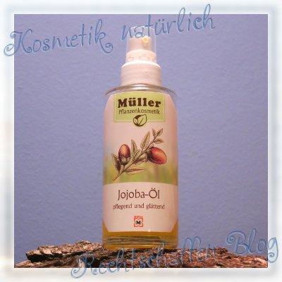 Jojobaöl Müller Pflanzenkosmetik, reines Jojobaöl in der Pumpflasche