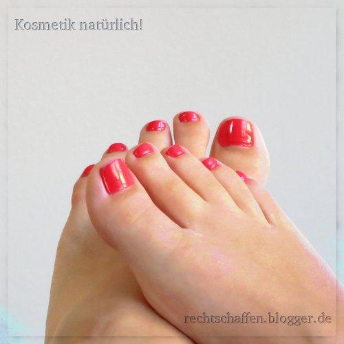 Sante No. 21 coral pink Nagellack | Zehennägel