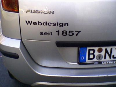 Webdesign seit 1857