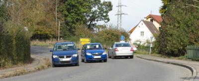 Strassenbreite 7,50m - Hier ist noch Platz für Radwege