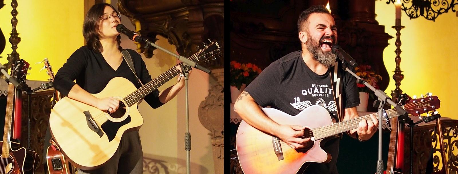 Ines Herrmann und EvilMrSod beim Konzert zum Abschluß des Augustusburger Musiksommers 2019