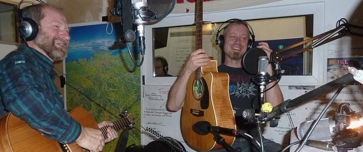 MF und FF im alten Studio 2 von Radio T