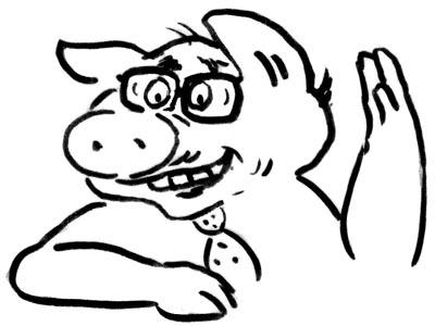 Seniorenakrützel-Schwein
