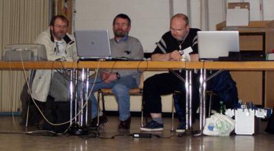 Die Turnierleitung: Wolfgang Weirich, Joachim Löw und Peter Schneider