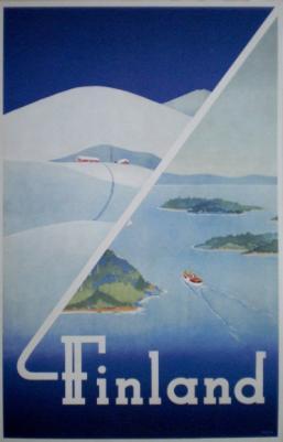 [Bild: historische Tourismuswerbung für Finnland, aus dem Jahr 1948]