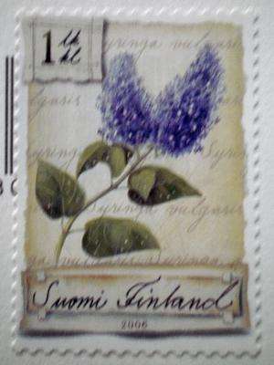 [Bild: Briefmarke mit blühendem Flieder]
