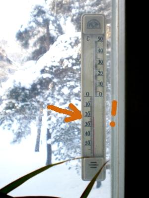 [Bild: Thermometer zeigt -20 Grad]