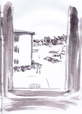 Pinsel, Tinte