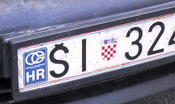 Croatian licence-plate. (novala)