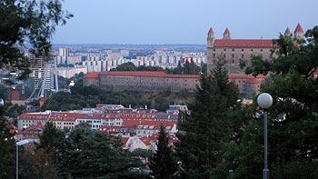 View from Russian Memorial, Bratislava. (novala)