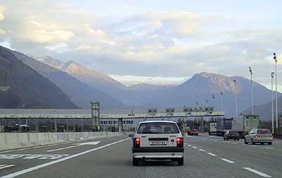Border-crossing Brenner-motorway A-I