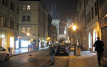 Prague in the dark. (novala)