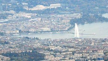 The fountain in Geneva. (novala)