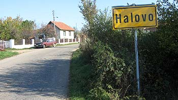 Village sign Halovo. (novala)