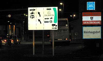 Border-crossing Kleinhaugsdorf