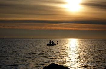 Boat in Piran. (novala)