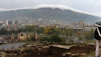 View over Skopje. (novala)