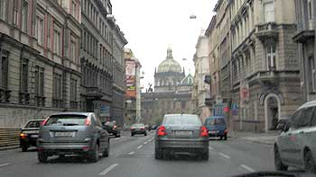 Street in Prague. (novala)